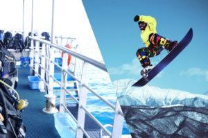 ストラッパーはダイビングやスノボ、スキーなどのアウトドアスポーツに最適